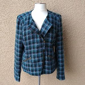 Lucky Brand woman's Harper Tweed moto jacket